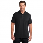 District Made DM325 Mens Stretch Pique Polo - Black