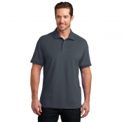 District Made DM325 Mens Stretch Pique Polo - Grey Smoke