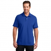 District Made DM325 Mens Stretch Pique Polo - Royal
