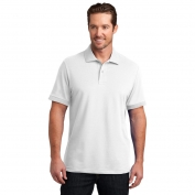 District Made DM325 Mens Stretch Pique Polo - White