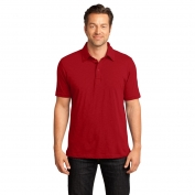 District Made DM350 Mens Slub Polo - Classic Red