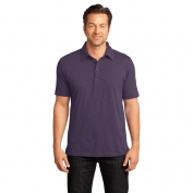 District Made DM350 Mens Slub Polo - Eggplant