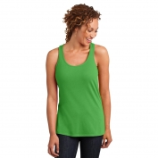 District Made DM420 Ladies Solid Gathered Racerback Tank