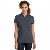 District Made DM425 Ladies Stretch Pique Polo - Grey Smoke