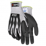 Memphis DN100 ForceFlex PU Coated Palm & Finger Gloves - 13 Gauge Dyneema - TPR Back