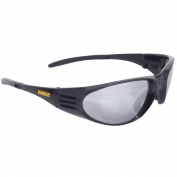 DeWalt DPG56B-6 Ventilator Safety Glasses - Black Frame - Silver Mirror Lens