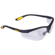 DeWalt DPG58-11 Reinforcer Safety Glasses - Black Frame - Clear Anti-Fog Lens