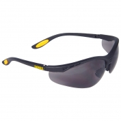 DeWalt DPG58-2 Reinforcer Safety Glasses - Black Frame - Smoke Lens