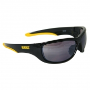 DeWalt DPG94-6 Dominator Safety Glasses - Black Frame - Silver Mirror Lens