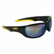 DeWalt DPG94-Y Dominator Safety Glasses - Black Frame - Yellow Mirror Lens
