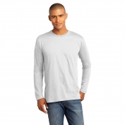 District Made DT105 Mens Perfect Weight Long Sleeve Tee - Bright White