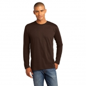 District Made DT105 Mens Perfect Weight Long Sleeve Tee - Espresso