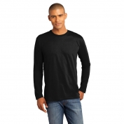 District Made DT105 Mens Perfect Weight Long Sleeve Tee - Jet Black
