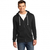 District DT190 Young Mens Core Fleece Full-Zip Hoodie - Black