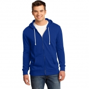 District DT190 Young Mens Core Fleece Full-Zip Hoodie - Deep Royal