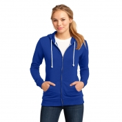District DT290 Juniors Core Fleece Full-Zip Hoodie - Deep Royal