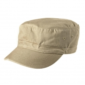 District DT605 Distressed Military Hat - Khaki