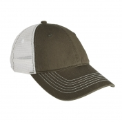 District DT607 Mesh Back Cap - Army/White