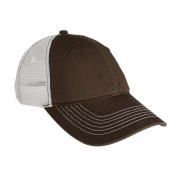 District DT607 Mesh Back Cap - Chocolate Brown/White