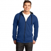 District DT800 Young Mens Concert Fleece Full-Zip Hoodie - Deep Royal