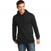 District DT810 Young Mens Concert Fleece Hoodie - Black