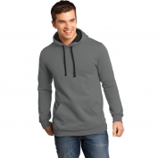 District DT810 Young Mens Concert Fleece Hoodie - Grey