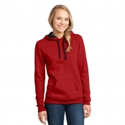 District DT811 Juniors Concert Fleece Hoodie - New Red
