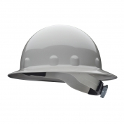 Fibre Metal E1RW Full Brim Hard Hat - Ratchet Suspension - Gray