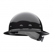 Fibre Metal E1RW Full Brim Hard Hat - Ratchet Suspension - Black