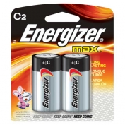 C Energizer Batteries, Max Line, 2-pack