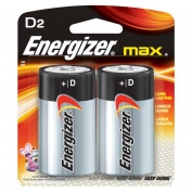 D Energizer Batteries, Max Line, 2-pack