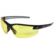 Edge DZ112VS-G2 Zorge G2 Safety Glasses - Black Frame - Yellow Vapor Shield Anti-Fog Lens