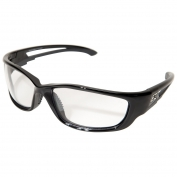 Edge SK-XL111VS Kazbek XL Safety Glasses - Black XL Frame - Clear Vapor Shield Anti-Fog Lens