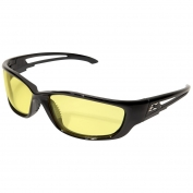 Edge SK-XL112VS Kazbek XL Safety Glasses - Black XL Frame - Yellow Vapor Shield Anti-Fog Lens