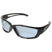 Edge SK-XL113VS Kazbek XL Safety Glasses - Black XL Frame - Light Blue Vapor Shield Anti-Fog Lens