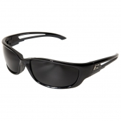 Edge SK-XL116 Kazbek XL Safety Glasses - Black XL Frame - Smoke Lens
