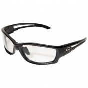Edge SK111VS-AFT Kazbek Safety Glasses - Black Asian Fit Frame - Clear Vapor Shield Anti-Fog Lens