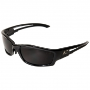 Edge SK116VS-AFT Kazbek Safety Glasses - Black Asian Fit Frame - Smoke Vapor Shield Anti-Fog Lens