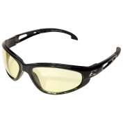 Edge SW112VS Dakura Safety Glasses - Black Frame - Yellow Vapor Shield Anti-Fog Lens