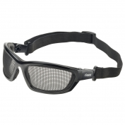 Elvex GG-50 AirSpecs Goggles - Black Foam Lined Frame - Steel Mesh Lens