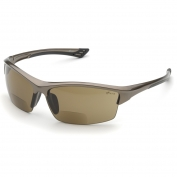 Elvex RX-350BR Sonoma Safety Glasses - Glossy Bronze Frame - Brown Anti-Fog Bifocal Lens