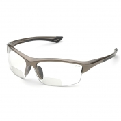 Elvex RX-350C Sonoma Safety Glasses - Glossy Bronze Frame - Clear Anti-Fog Bifocal Lens