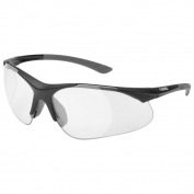 Elvex RX-500C Full Lens Bifocal Safety Glasses - Black Frame - Clear Lens