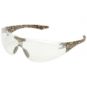 Elvex SG-18C-LEO Avion Safety Glasses - Leopard Print Frame - Clear Lens