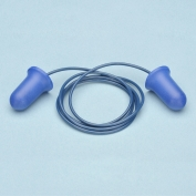 Elvex Blue Bell Shaped Corded Foam Ear Plug