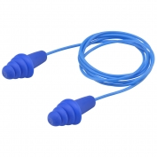 Elvex EP-413 QUATTRO Reusable PVC Corded Ear Plugs - NRR 27