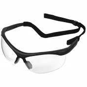 ERBx Safety Glasses - Black Frame - Clear Bifocal Lens