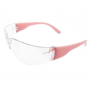ERB Lucy Safety Glasses - Pink Frame - Clear Anti-Fog Lens
