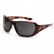 ERB Rose Safety Glasses - Tortoise Shell Frame - Smoke Lens