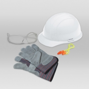 ERB 18531 L1 New Hire Kit - Cap Helmet, Clear Glasses, Work Gloves & Ear Plugs